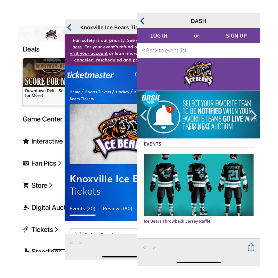 Ice Bears Mobile App