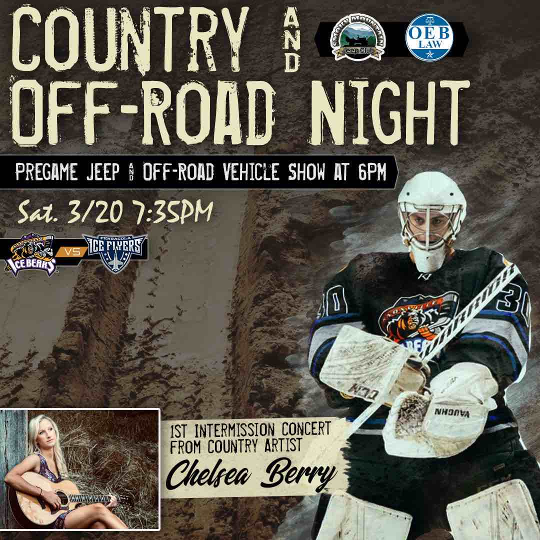 Knoxville Ice Bears Country & Off-Road Night Featuring Jeep & Off-Road Show